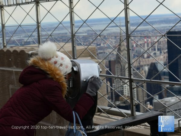 Taking in the scenery via the Empire State Building 86th floor observatory