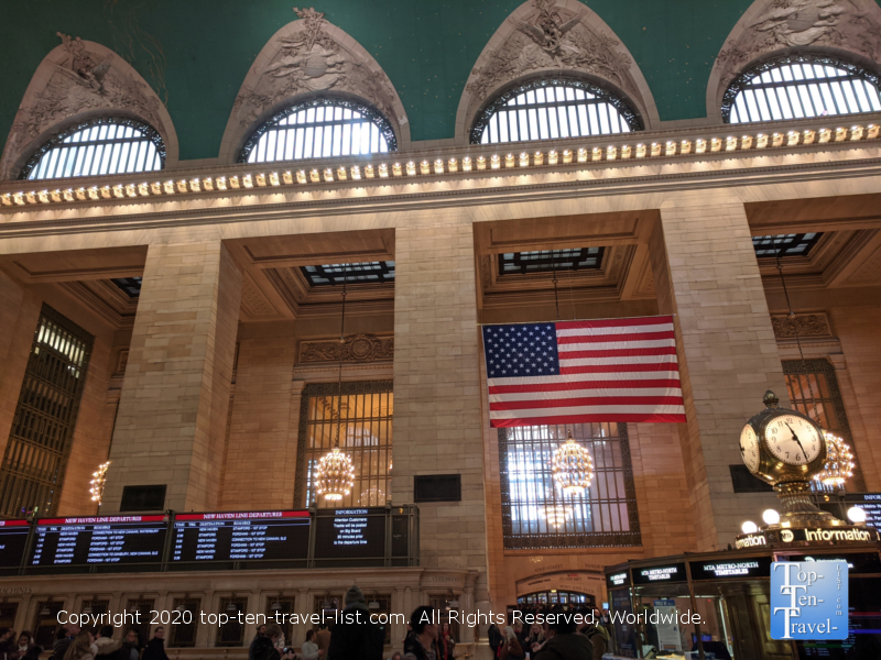 The famous clock at Grand Central station