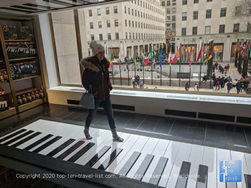 The piano from Big at FAO Schwartz in Rockefeller Center
