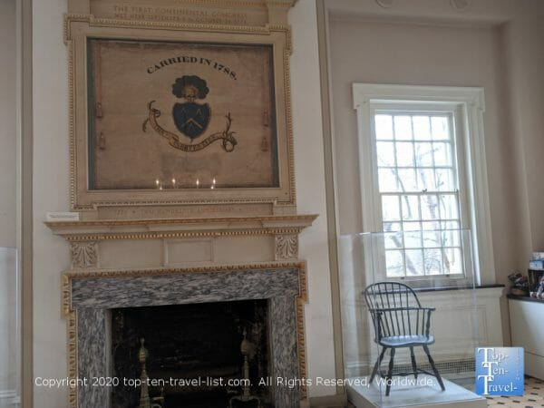 Self guided tour of Carpenters Hall in Old City Philadelphia