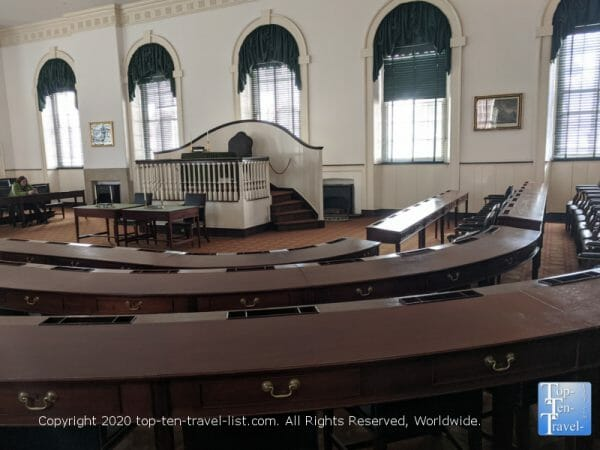 Tour of Congress Hall in Old City Philadelphia