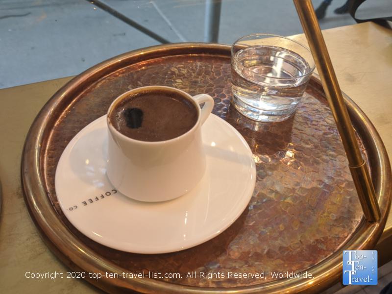 Turkish coffee at Lulu in Midtown Manhattan