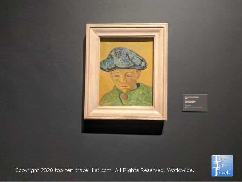 Van Gogh self portrait at the Philadelphia Museum of Art