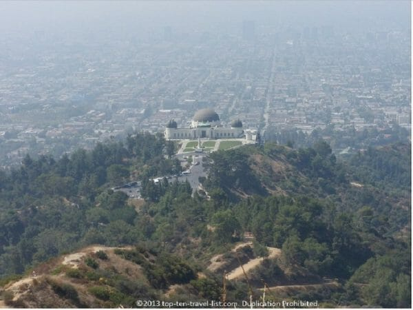Beautiful hiking trail at the Griffith Observatory in Los a