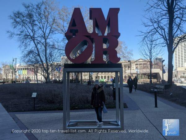 Amor sculpture in Philadelphia