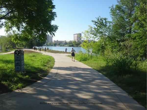 The beautiful Ladybird bike and hike trail in Austin, Texas