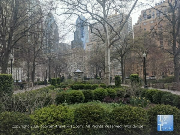 Beautiful Rittenhouse Square in Center City Philadelphia