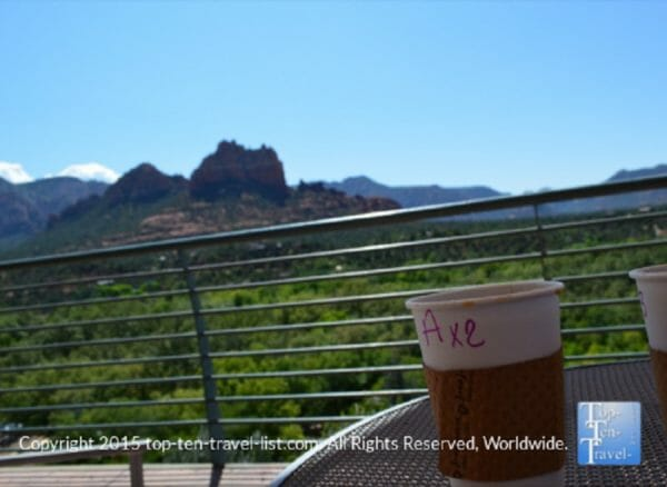 Coffee at Pink Java Cafe in Sedona, Arizona