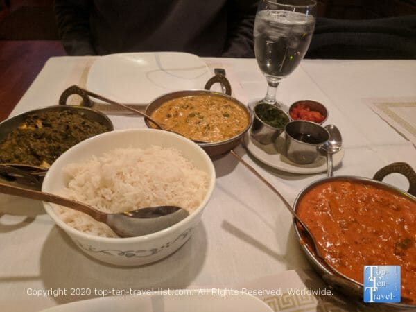 Delicious Indian food at Nirvana Indian Bistro in Lafayette Hills, PA