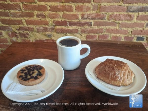 Delicious coffee and pastries at Peddler Coffee in Philadelphia