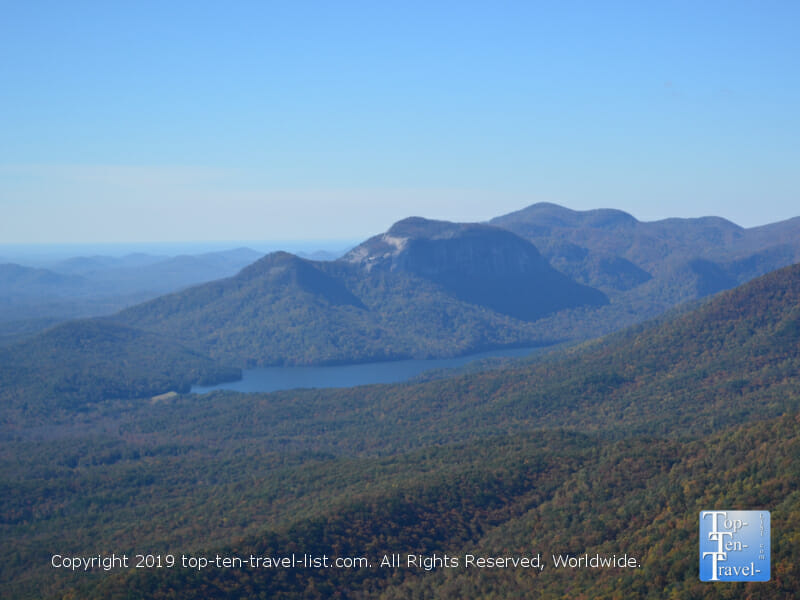 Gorgeous mountain scenery at Caesar's Head State Park in Upstate SC
