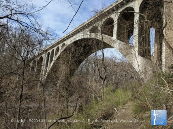 Henry Avenue Bridge at Wissahickon Valley Park in Philadelphia