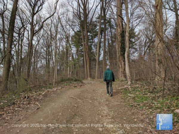 Winter hike at Wissahickon Valley Park near Center City Philadelphia