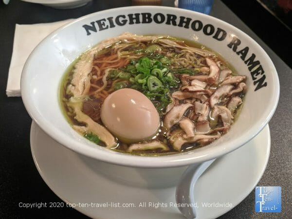 Yasai bowl at Neighborhood Ramen in Philadelphia