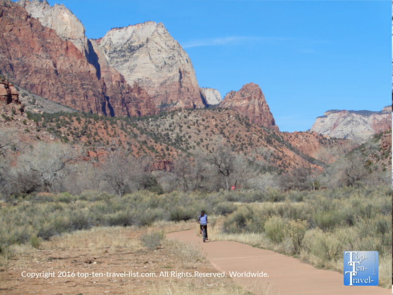 The incredibly scenic Pa'Rus trail at Zion National Park