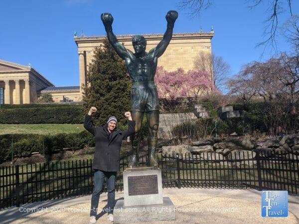 The famous Rocky statue in Philadelphia