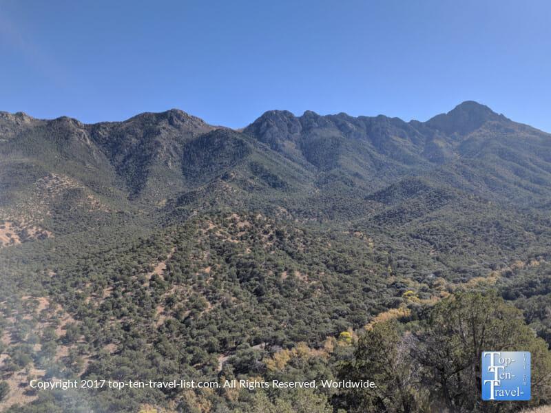 Scenic mountain views along the Nature trail at Madera Canyon in Southern Arizona