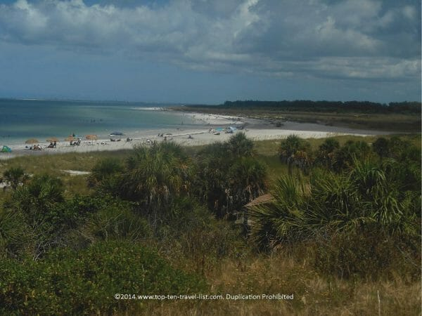 Scenic view via the Fort DeSoto bike path in St. Petersburg, Florida