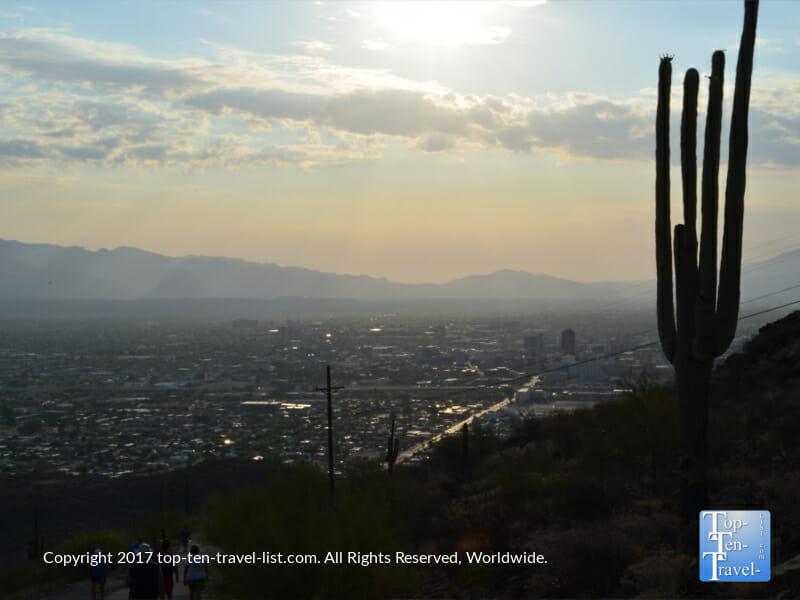 Gorgeous sunrise hike up the Tumamoc Hill trail in Tucson, Arizona