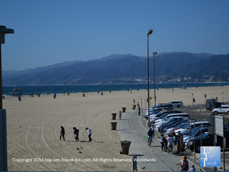 Gorgeous views of the Santa Monica mountains via the Strand bicycle path