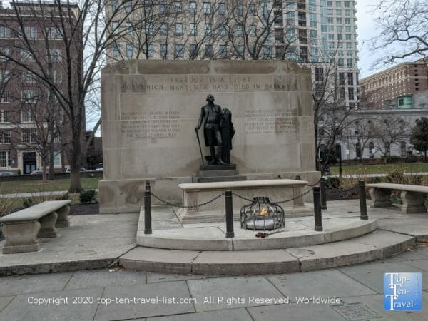 Tomb of the Unknown Soldier of the Revolutionary War in Center City Philadelphia