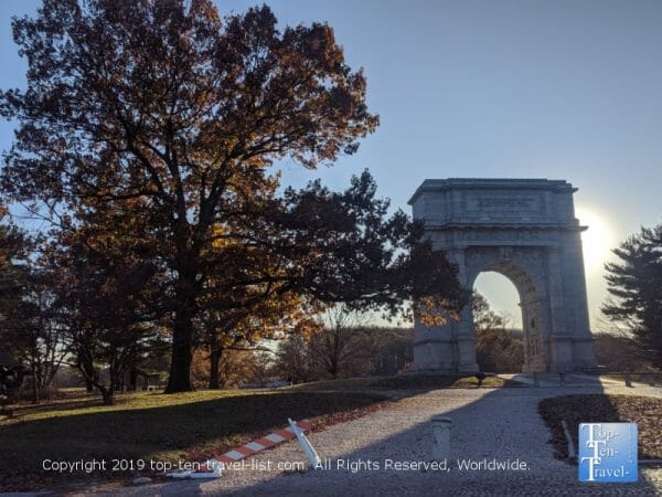 National Memorial Arch at Valley Forge National Park near Philadelphia