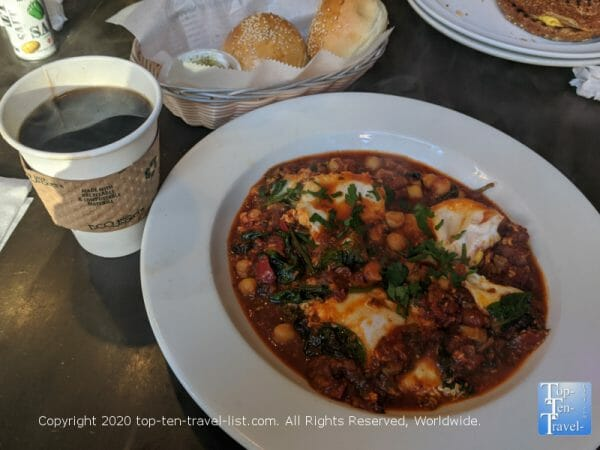 Veggie Shakshuka at Cafe Ole in Old City Philadelphia