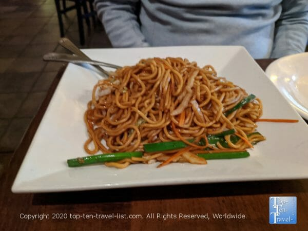 Veggie Lo Mein at Han Dynasty in Old City Philadelphia