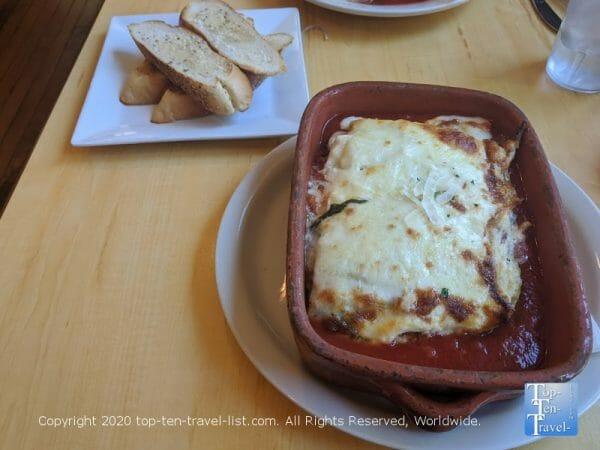 Veggie lasagna at Angelino's restaurant in Philadelphia