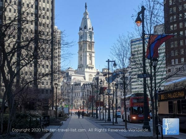 View of City Hall in Center City Philadelphia