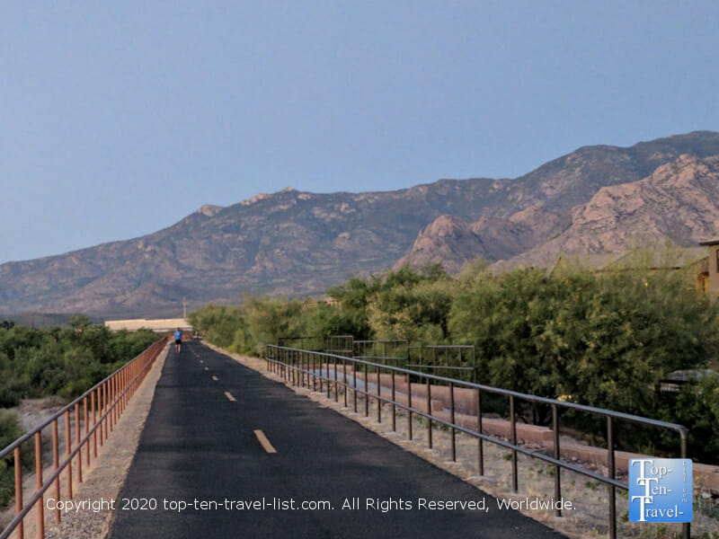 Gorgeous mountain scenery via the Canada del Oro Riverfront Path in Oro Valley, Arizona