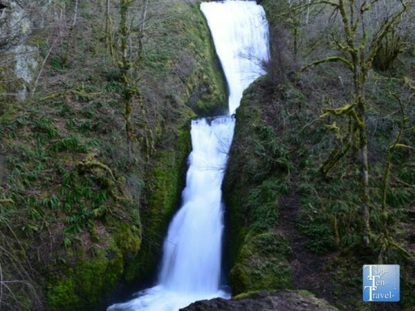 Bridal Veil Falls in the Columbia River Gorge of Oregon