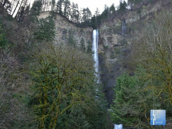 Multnomah Falls in Oregon's Columbia River Gorge