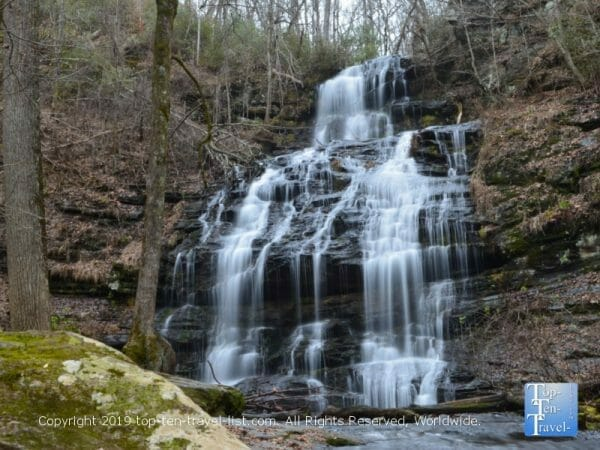 The gorgeous Station Cove waterfall in Upstate South Carolina