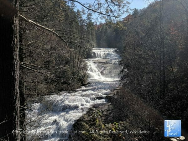 Triple Falls at Dupont State Forest in Western North Carolina