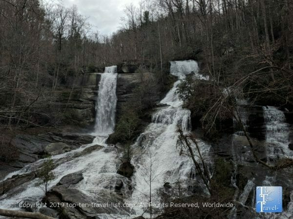 Twin Falls in Upstate South Carolina