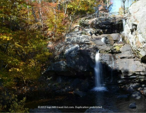 Chapman Falls at Devil's Hopyard State Park in East Haddam, CT