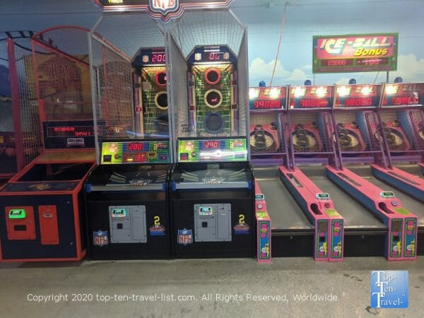 Treasure Island Fun Center arcade in Pinellas County, Florida