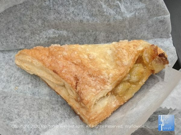 Apple turnover at Anthony's Coffee & Chocolate House in South Philly