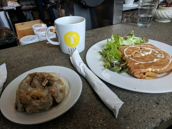 Roasted roots crepe at Tandem Creperie in Travelers Rest, South Carolina