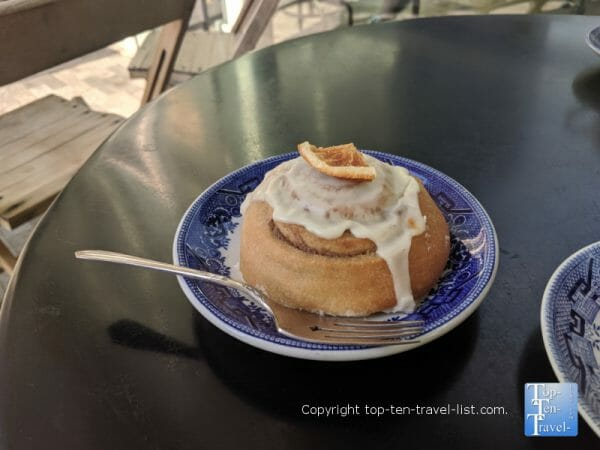 Delicious gluten-free pastry at Methodical Coffee in Greenville, South Carolina