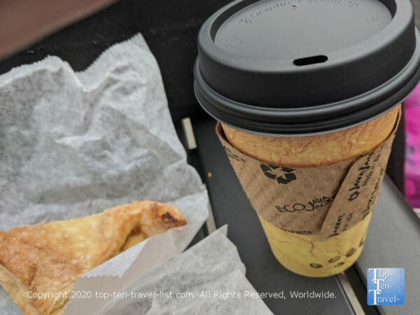 Delicious coffee and pastry at Anthony's Italian Coffee and Chocolate House in South Philly