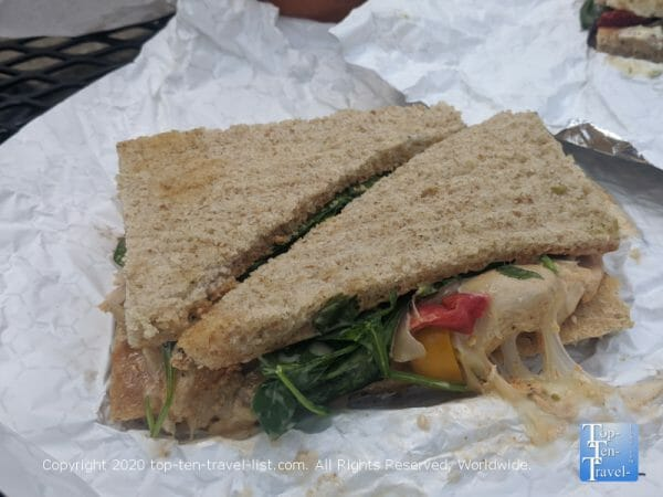 Atomic Veggie sandwich at Couch Tomato Cafe in Philadelphia