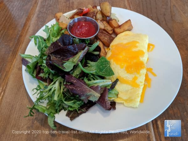 Kennett Square mushroom omelet at White Dog Cafe near Philadelphia