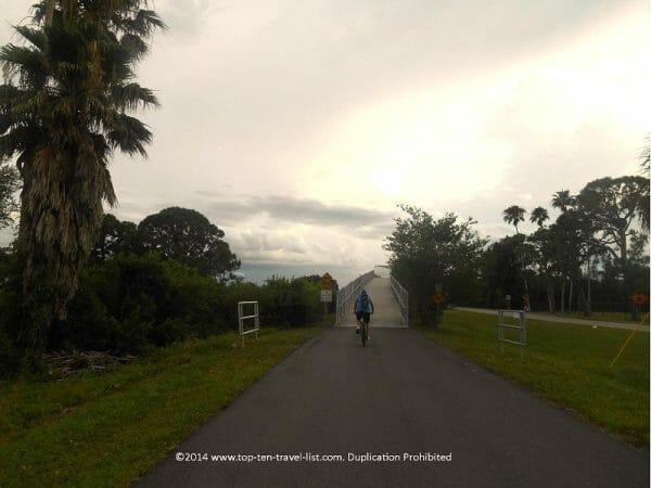 The Pinellas Trail bike path near Palm Harbor, Floria