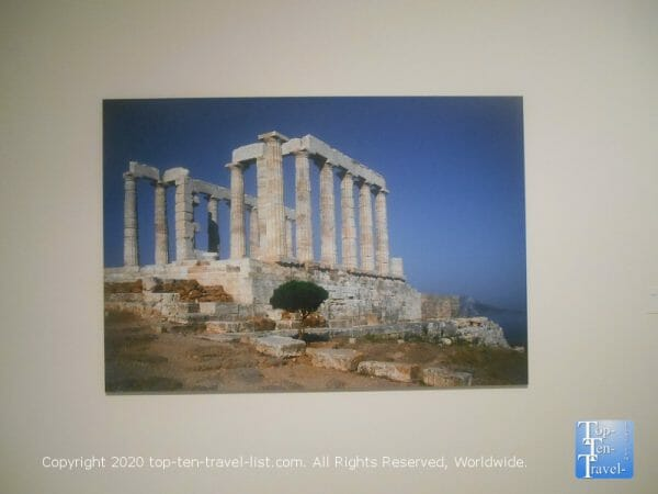 Temple of Poseidon painting at the Tampa Museum of Art