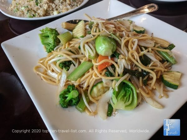 Veggie Lo Mein at Yummy House in Tampa, Florida