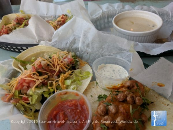 Black Bean tacos at White Duck in Greenville, South Carolina