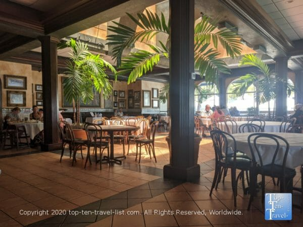 Beautiful Mediterranean style dining room at Columbia Restaurant Sand Key