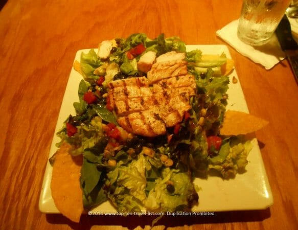 Chicken Mediterranean salad at Ozona Blue in Palm Harbor, Florida